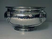 Liberty Archibald Knox Art Nouveau Pewter Bowl,English C.1910.