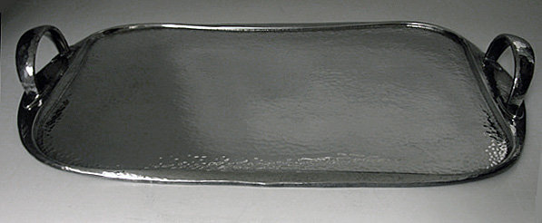 Liberty Art Nouveau Pewter Tray, English C.1910.