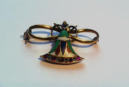 Butterfly Enamel Ruby Diamond C.1920