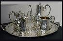 Tea & Coffee Service & Tray Brightcut  1848-78