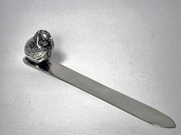Silver Letter opener Bird Sampson Mordan  Chester 1911