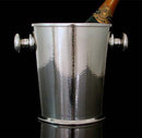 Art Deco Modernist Silver Plate hammered Wine Cooler, Germany C.1935, by Juwel