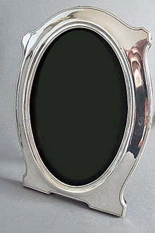 Art Nouveau English Silver Photograph Frame, Birmingham 1914, Hayes & Co.