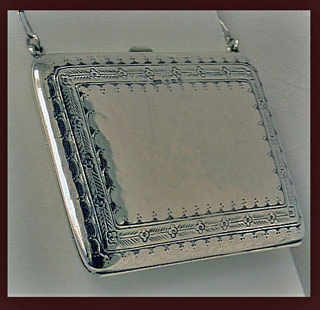 Liberty & Co Silver Arts and Crafts Card Case Aide Memoire, Birmingham 1911.