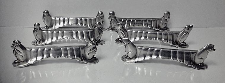 WMF Art Deco Knife Rests, Germany C.1920