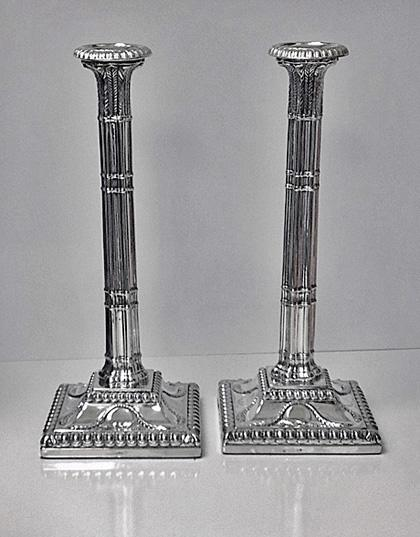 English Corinthian Candlesticks C1845 Roberts & Slater