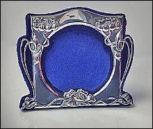 Birks Art Nouveau Sterling Frame, C.1900.