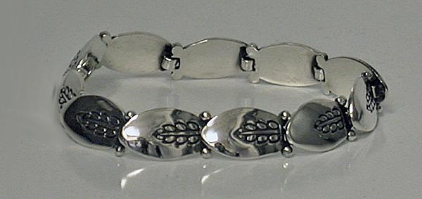 George Jensen Sterling Bracelet, design 94A, marks post 1945