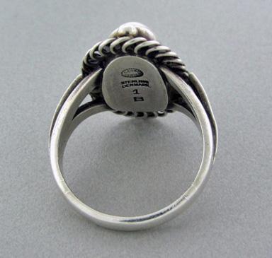 Georg Jensen Harald Nielsen Moonlight Blossom Ring, Denmark, post 1945