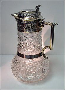 English Silver Claret Jug 1898 W & C. Sissons