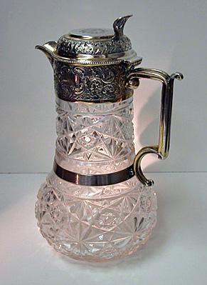 English Silver Claret Jug 1898 W & C. Sissons