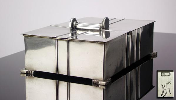 Art Deco Dutch Pewter Box, Amsterdam, C.1920, Theodorus Hooft for Gero.