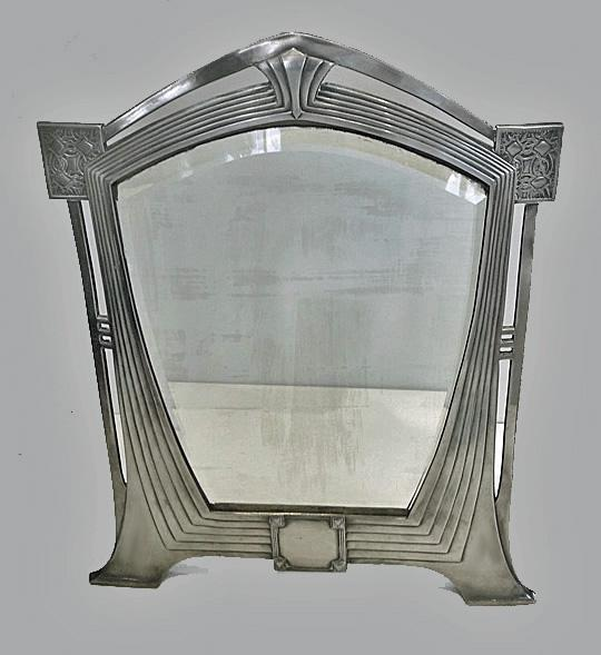 Rare WMF Art Nouveau Jugendstil Secessionist large Mirror, Germany C.1905