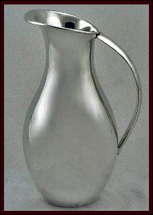 Juvento Lopez Reyes, C.1950 Mexican Sterling Water Pitcher Jug.