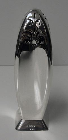 Silver Caster Rocket shape,  Dublin 1941 import marks,hallmarked for Sheffield 1939, Atkins Bros