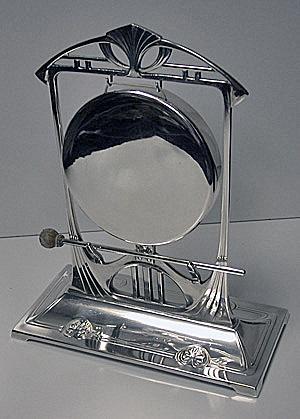 W.M.F Art Nouveau Secessionist Jugendstil Table Gong Bell, C.1900