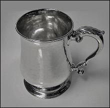 George 11 Silver Mug, London 1759, Benjamin Cartwright