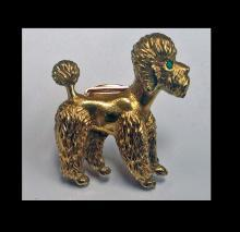 Cartier French Gold Poodle