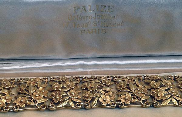 Falize floral Bracelet, Art Nouveau France C.1890