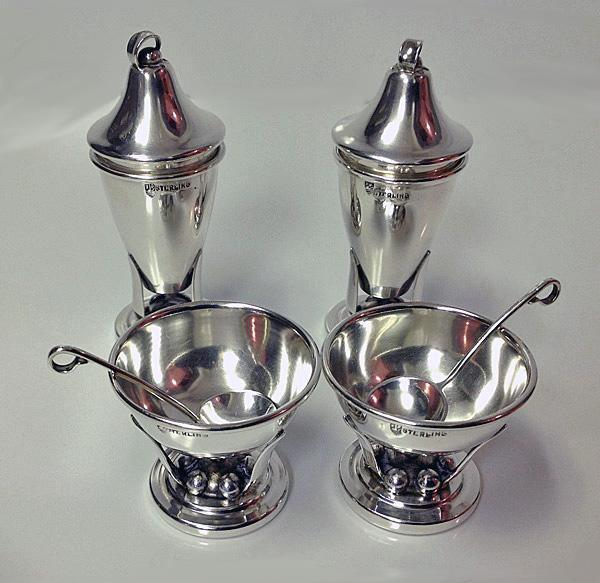 Sterling Condiment Set, Carl Poul Petersen, Montreal C.1930.