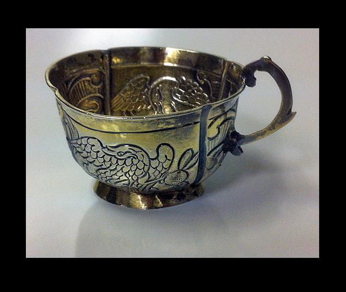 Russian silver parcel gilt charka, Moscow 1770.