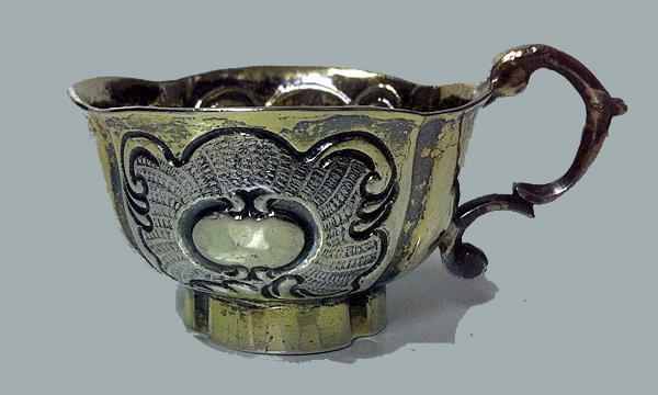 Russian silver parcel gilt charka, Moscow C.1760 - 1770