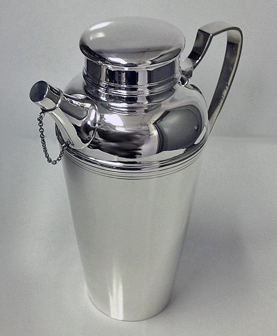 Tiffany Art Deco Sterling Silver Cocktail Shaker C.1920
