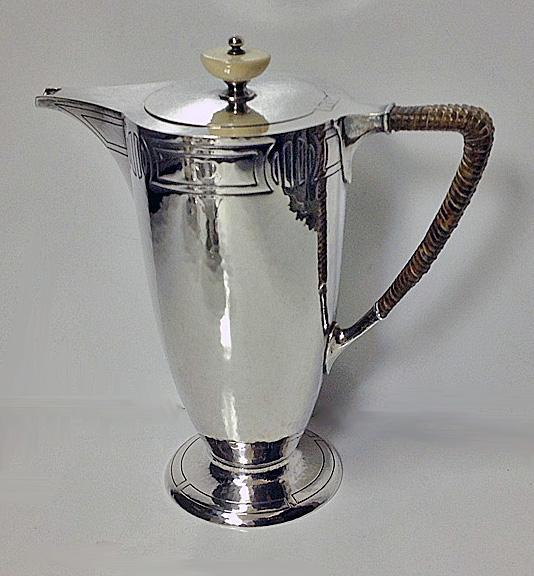 American Arts and Crafts Sterling Coffee Service, C.1905, Durgin Co