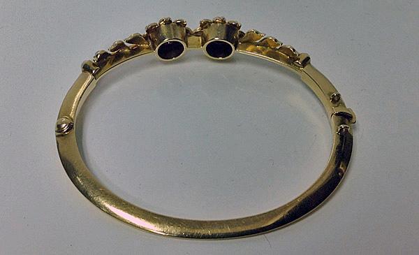 Antique Pearl and Diamond Bangle, English C.1900