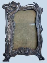 Art Nouveau silver metal Photograph Frame, C.1900.