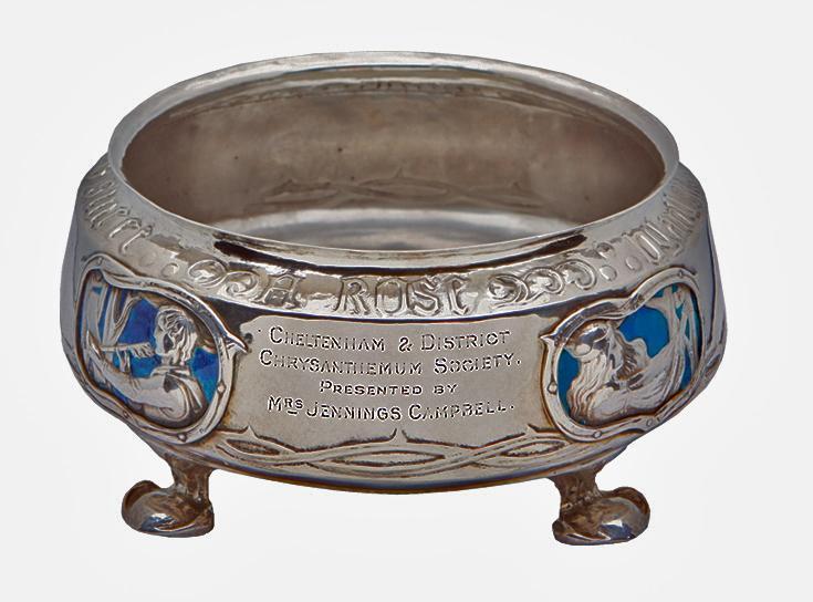 Rare Liberty Silver Enamel Bowl 1902