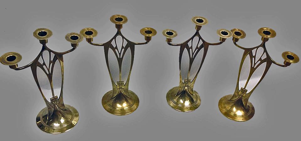 4 WMFJugendstil Secessionist Art Nouveau  Candelabra, Germany C.1900
