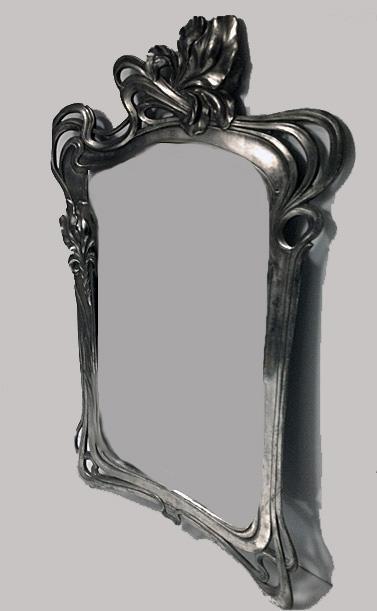 Art Nouveau Mirror, attr Argentor, Austria C.1900.