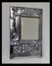 Art Nouveau large Silver Plate Photograph Frame, Germany C.1900