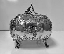 Austro Hungarian Silver Sugar Box, Vienna C.1875, KK