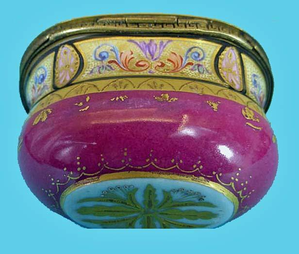 Fine 19th cent Viennese ormolu enamel box, C.1875.