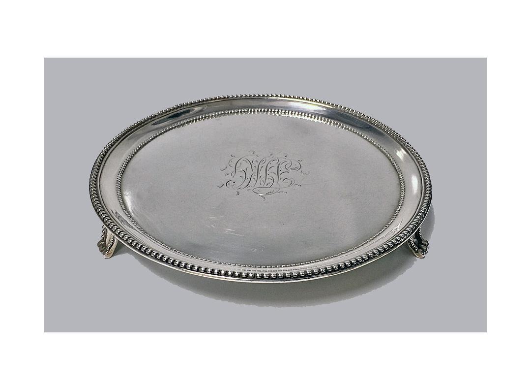 Georgian Silver Salver, London 1785 by Elizabeth Jones