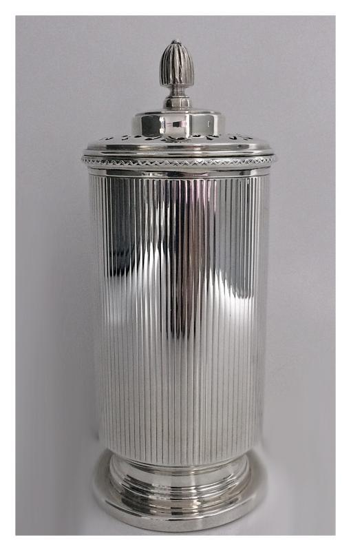 English Art Deco Silver Sugar Castor