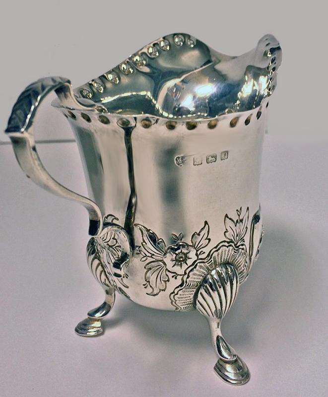 Irish style Silver cream jug and matching sugar bowl, Birmingham 1912-13