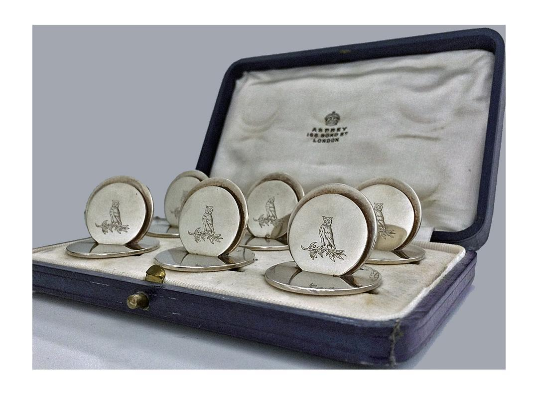 Asprey & Co Place Card Menu Card Holders 1931