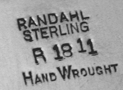 Randahl hammered Sterling Bowl  Chicago C.1930.