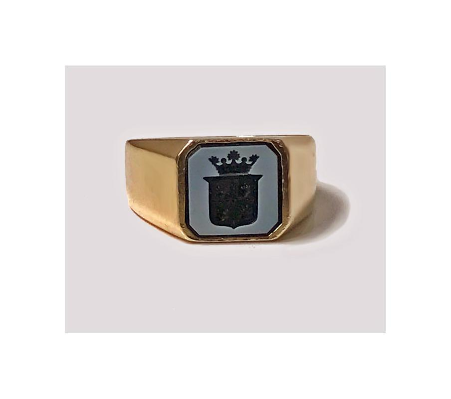 Antique Gold Sardonyx Ring, C.1890