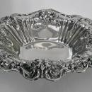 Reed & Barton Francis 1 Sterling Silver repousee footed large Dish, 1955.