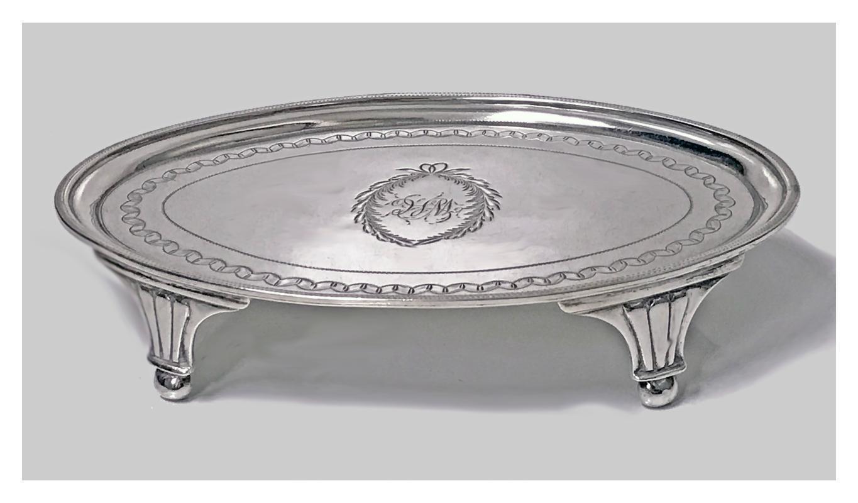 Georgian Silver Waiter Salver, London 1801 Urquhart and Hart