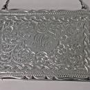 Antique Silver Card Case in form of a purse, Birmingham 1910, Adie and Lovekin