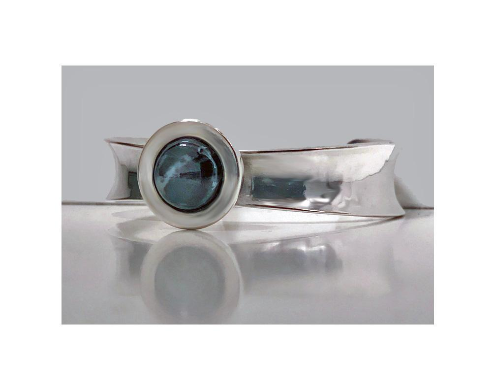 Scandinavian Modernism Sterling Bangle, Rune Tennesmed, Sweden 1958