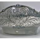 Shiebler Sterling large Strawberry Bowl, New York, late 19th century.