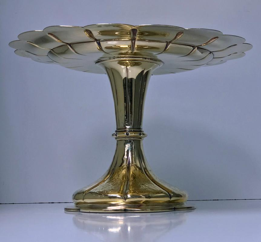 Elkington & Co Gilt and Silver Plate large Tazza, 1891
