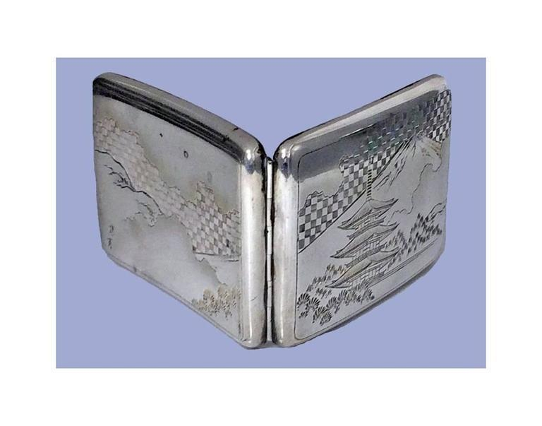 Fine Japanese 950 Silver Box Case, C.1920