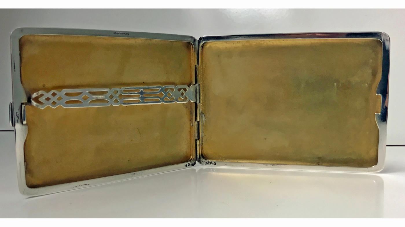 Birks Art Deco Sterling Silver Cigarette Case Box, C.1930